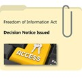 FOI Decision Notice Issued